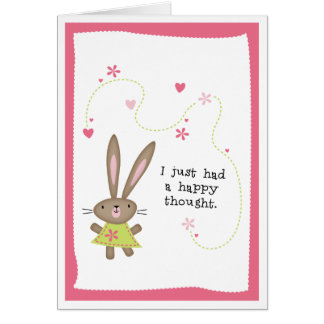 Thinking Of You>HAPPY THOUGHTS BUNNY Card