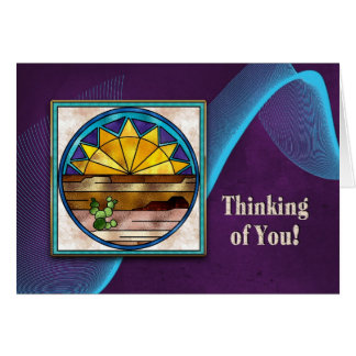 THINKING OF YOU - INDIAN COLLECTION - SUNRISE CARD