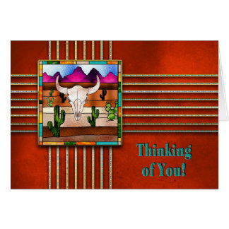 THINKING OF YOU - INDIAN COLLECTIONS - BULL SKULL CARD