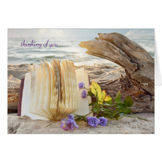 thinking of you-journal and roses on driftwood card