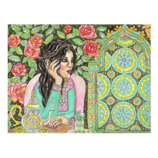 Thinking of you Moroccan tea postcard