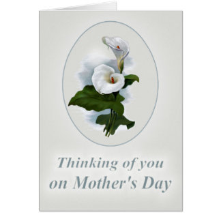 Thinking of you Mother's Day, Loss of a Mother Greeting Card