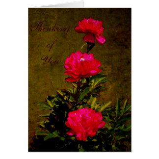 Thinking Of You - Olive Peony Card