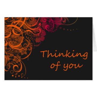 Thinking of you - orange blossom note card