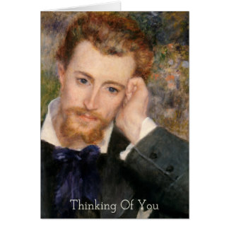 Thinking of You Pensive Gentleman Renoir Painting Card