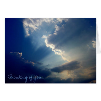 'Thinking of You' photo notecard
