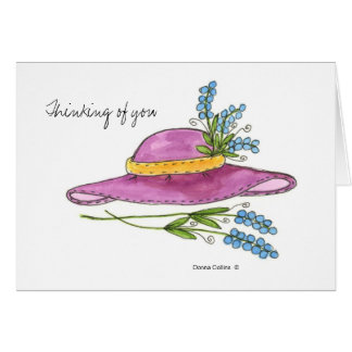 Thinking of You * Pink Hat note card