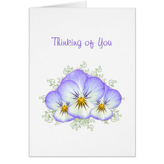 Thinking of You Pretty Purple Pansy Posy Card