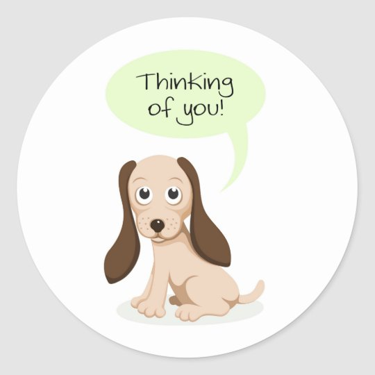 Thinking of you puppy dog stickers