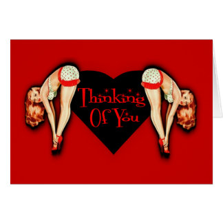 Thinking Of You Red Pin Up Card