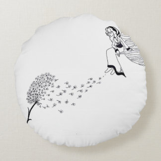 Thinking of you round pillow