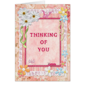 Thinking of you scrapbooking craft card