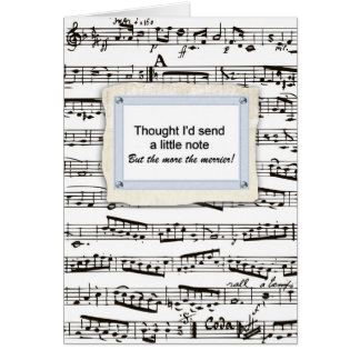 Thinking of you & sending a musical note or two card