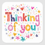 Thinking Of You Square Sticker
