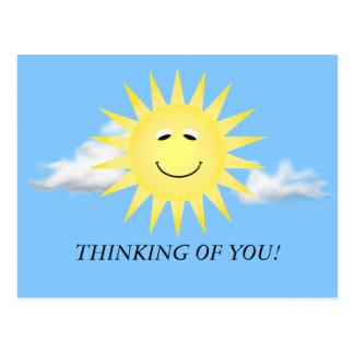 THINKING OF YOU SUNSHINE POSTCARD
