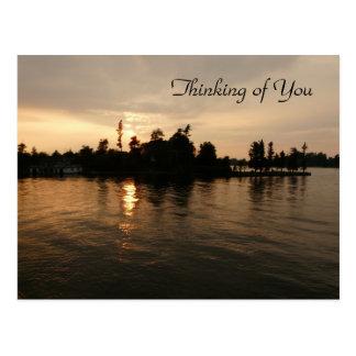 """Thinking of You""-Thousand Islands Sunset Postcard"