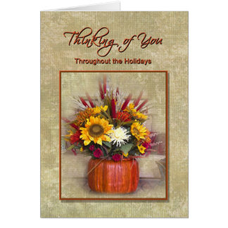 Thinking of You throughout the Holidays Greeting Card