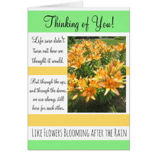 Thinking of You, Tough Times Encouragement Card