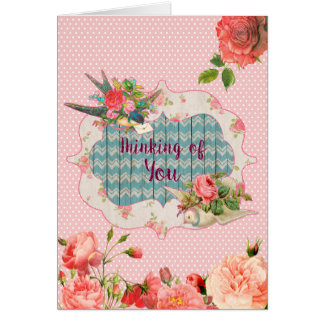 Thinking of You, Victorian Theme, blank card