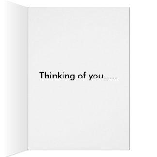 Thinking of you-Vintage Orange Daisy Card