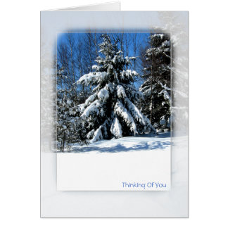 Thinking Of You - Winter Tree Card