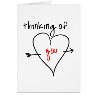 Thinking of you (with love) card