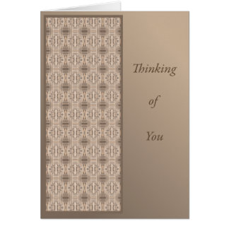 Thinking of You with Terrace Geometric Card