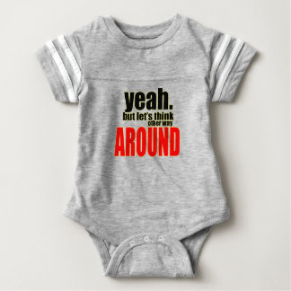 thinking other way around argument peace solution baby bodysuit
