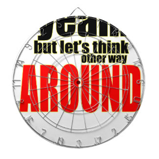 thinking other way around argument peace solution dartboard
