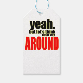 thinking other way around argument peace solution gift tags