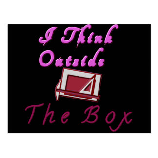 Thinking out of the box Customize Product Postcard