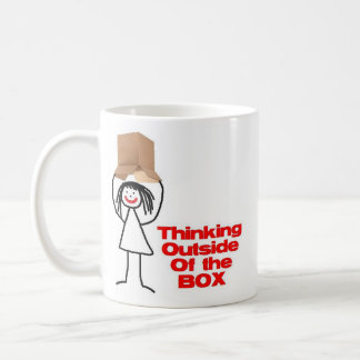 Thinking Outside the Box Cartoon Coffee Mug