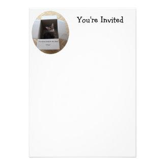 Thinking Outside the Box Custom Invitation