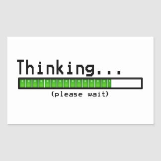 Thinking... Please wait funny stickers