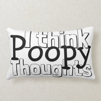 Thinking Poopy Thoughts Lumbar Pillow