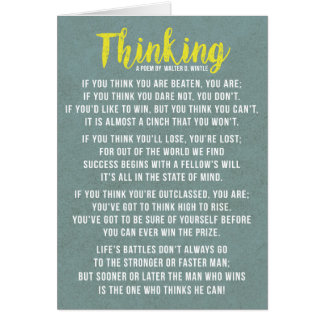 Thinking - Powerful Motivational Poem Card