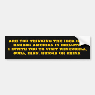 Thinking the idea of a Barack Amer... - Customized Bumper Sticker
