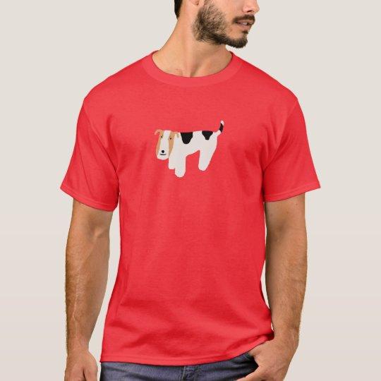 Thinking Wire Fox Terrier Shirt (unisex)