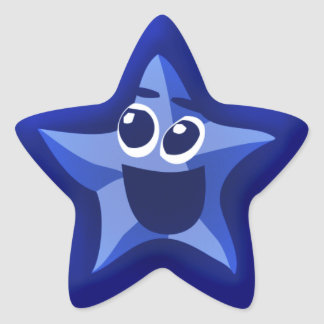 Thinkling Blue Star Stickers