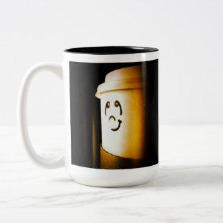 Thinkwells Cupface1 Two-Tone Coffee Mug