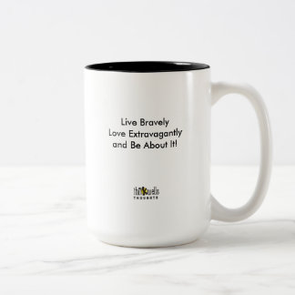 Thinkwells Thoughts- Tad Conner edition Two-Tone Coffee Mug