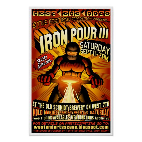 Third Annual West 7th Iron Pour Poster 2010