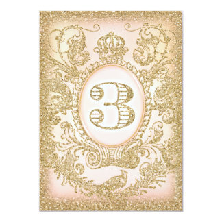 """Third Birthday Once Upon a Time Princess 5"""" X 7"""" Invitation Card"""
