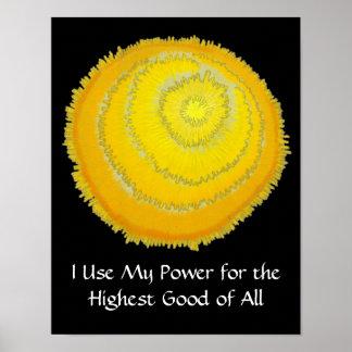 Third Chakra Healing Art # - Self Esteem Print