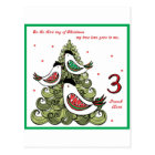 Third Day of Christmas Postcard