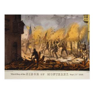 Third Day of the Siege of Monterrey Sept 23rd 1846 Postcard