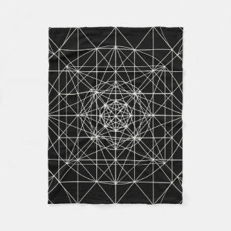 Third Dimensional/Crystal Temple Sacred Geometry Fleece Blanket