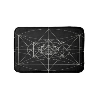 Third Dimensional Sacred Geometry Bath Mat
