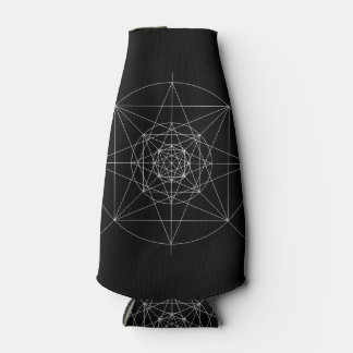 Third Dimensional Sacred Geometry Bottle Cooler