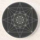 Third Dimensional Sacred Geometry Coaster